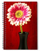 Daisy In Black Vase Spiral Notebook