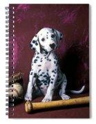 Dalmatian Puppy With Baseball Spiral Notebook