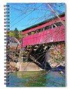 Damaged Covered Bridge Spiral Notebook