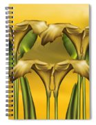 Dance Of The Yellow Calla Lilies Spiral Notebook