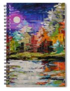 Dance On The Pond Spiral Notebook