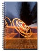 Dancing Fire Spiral Notebook