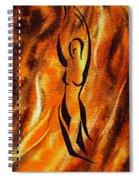 Dancing Fire V Spiral Notebook