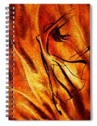 Dancing Fire Vi Spiral Notebook