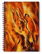 Dancing Fire Viii Spiral Notebook