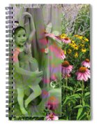 Dancing Girl In Flowers Spiral Notebook