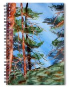Dancing Light And Mossy Field Spiral Notebook