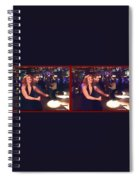 Dancing New Years Eve - Gently Cross Your Eyes And Focus On The Middle Image Spiral Notebook
