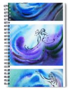 Dancing Water V Spiral Notebook
