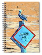 Danger Oil Spiral Notebook