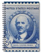 Daniel Chester French Postage Stamp Spiral Notebook