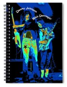 Danny And Rick With Text Spiral Notebook