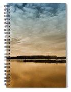 Danube River-sunset Spiral Notebook