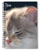 Daphne Cat Miss You Spiral Notebook
