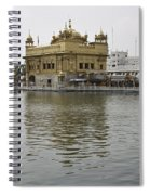 Darbar Sahib And Sarovar Inside The Golden Temple Spiral Notebook
