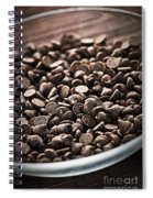 Dark Chocolate Chips Spiral Notebook