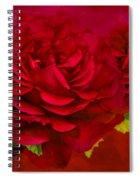 Dark Pink Rose Spiral Notebook