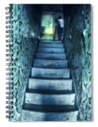 Dark Staircase With Man At Top Spiral Notebook