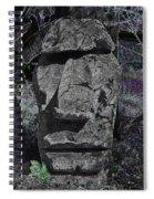 Dark Tiki Spiral Notebook