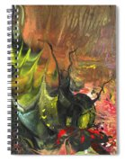 Date In The Wood Spiral Notebook