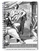 David Playing Harp Spiral Notebook