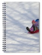 Dawn Flora Sledding 12812c Spiral Notebook