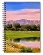 Dawn On The Golf Course Spiral Notebook