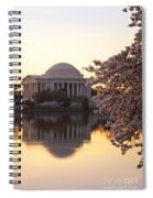 Dawn Over The Jefferson Memorial Spiral Notebook