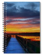 Dawn Skies At The Fishing Pier Spiral Notebook