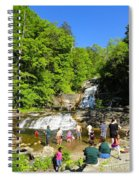 Day At Kent Falls State Park Spiral Notebook