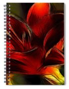 Day Lily Fractal Spiral Notebook