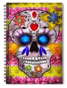Day Of The Dead - Death Mask Spiral Notebook