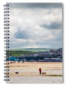 Daymer Bay Beach Landscape In Cornwall Uk Spiral Notebook