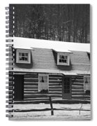 Days Of Yore Log Cabin Spiral Notebook