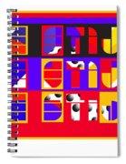 De Stijl Spiral Notebook
