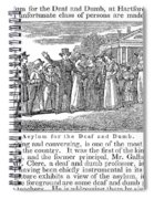 Deaf And Dumb School, 1842 Spiral Notebook