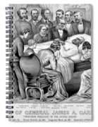 Death Of Garfield, 1881 Spiral Notebook