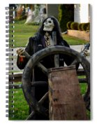 Death Steers The Ship Spiral Notebook