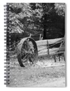 Decaying Wagon Black And White Spiral Notebook