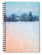 December Snow Spiral Notebook