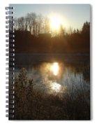 December Sunrise Off Smooth Water Spiral Notebook