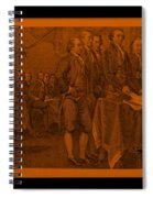 Declaration Of Independence In Orange Spiral Notebook