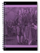 Declaration Of Independence In Pink Spiral Notebook