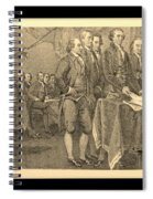 Declaration Of Independence In Sepia Spiral Notebook