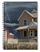 Decline Of The Small Farm Number 6 Version 2 Spiral Notebook
