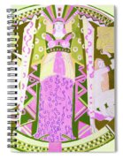 Deco Ladies Frostwork And Iris Spiral Notebook