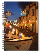 Decorated Fishing Boats Spiral Notebook