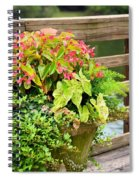 Decorated With Pink Spiral Notebook