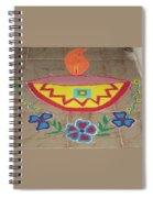 Decorative Earthen Diya Rangoli Spiral Notebook