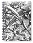 Decorative Engraving Spiral Notebook